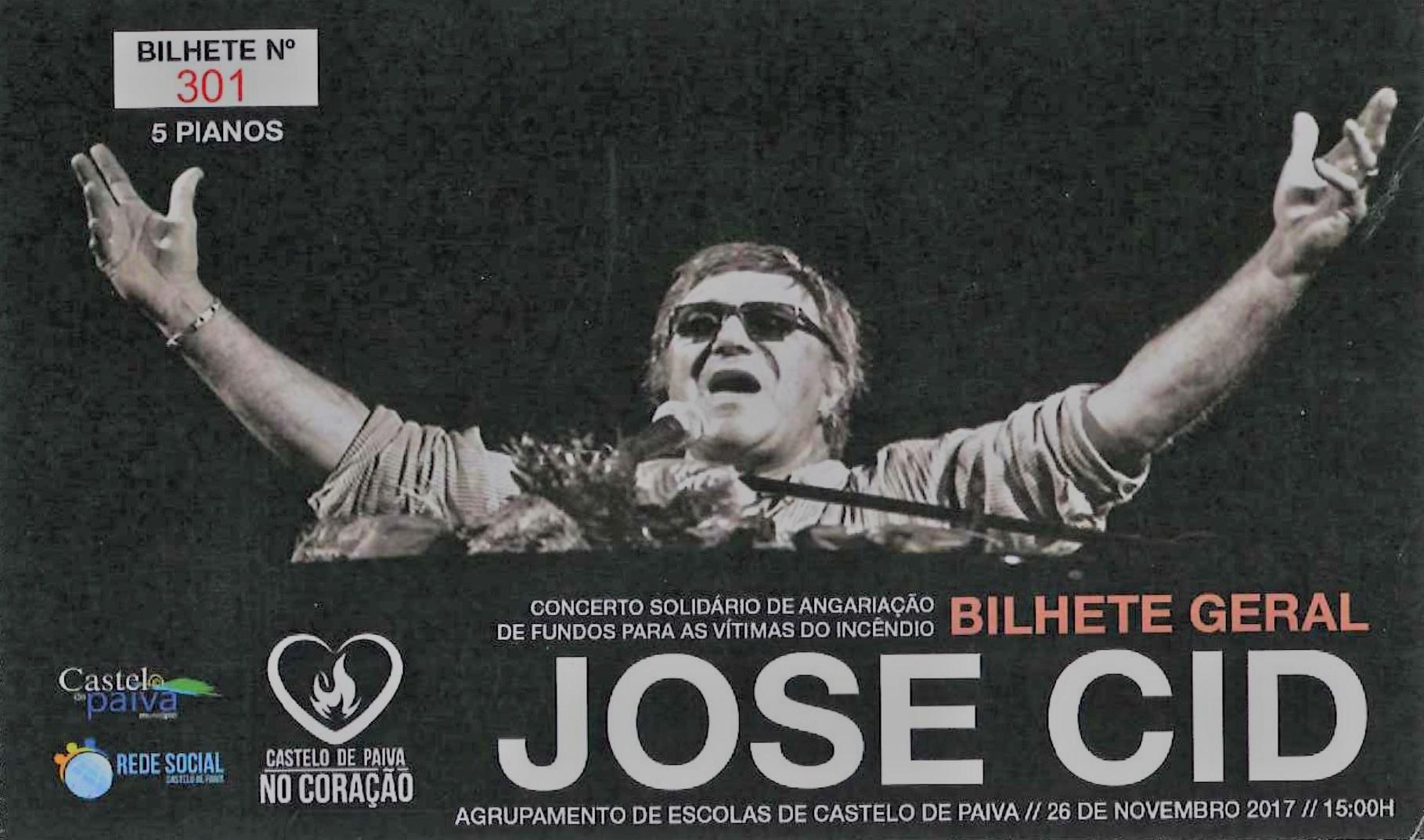 CONCERTO SOLIDÁRIO - JOSÉ CID - 26 novembro - ESCOLA SEDE