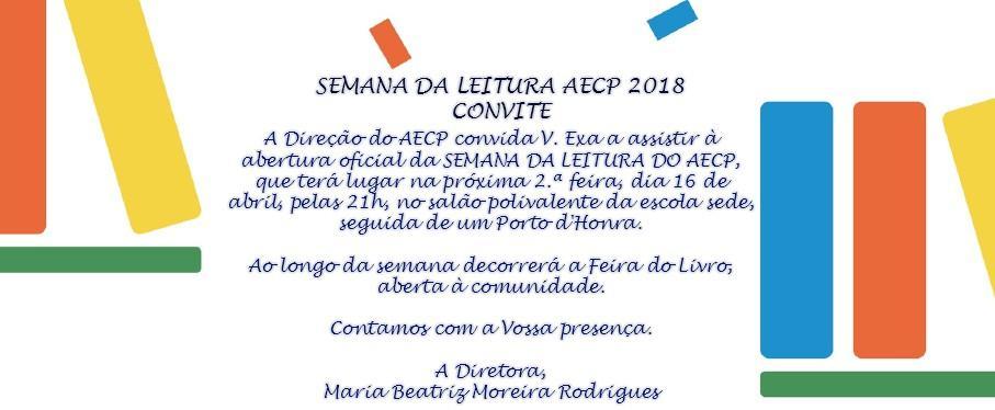 SEMANA DA LEITURA AECP - CONVITE
