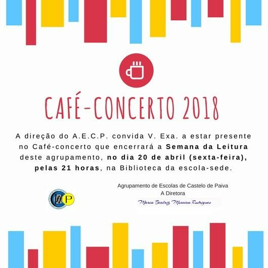 ENCERRAMENTO DA SEMANA DA LEITURA - CAFÉ CONCERTO - CONVITE